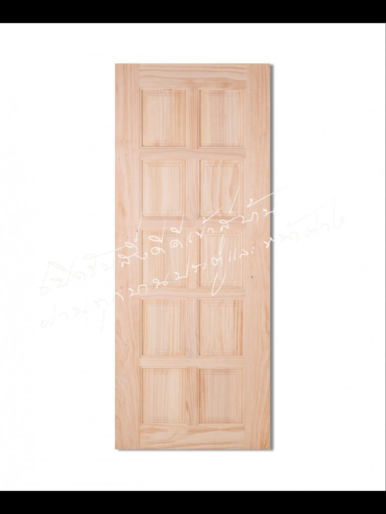 CE-116-10 ประตูไม้จริง ไม้สนนิวซีแลนด์