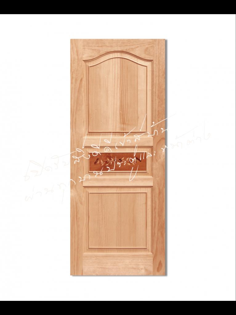 INLAY-07 ประตูไม้จริง ไม้สนนิวซีแลนด์