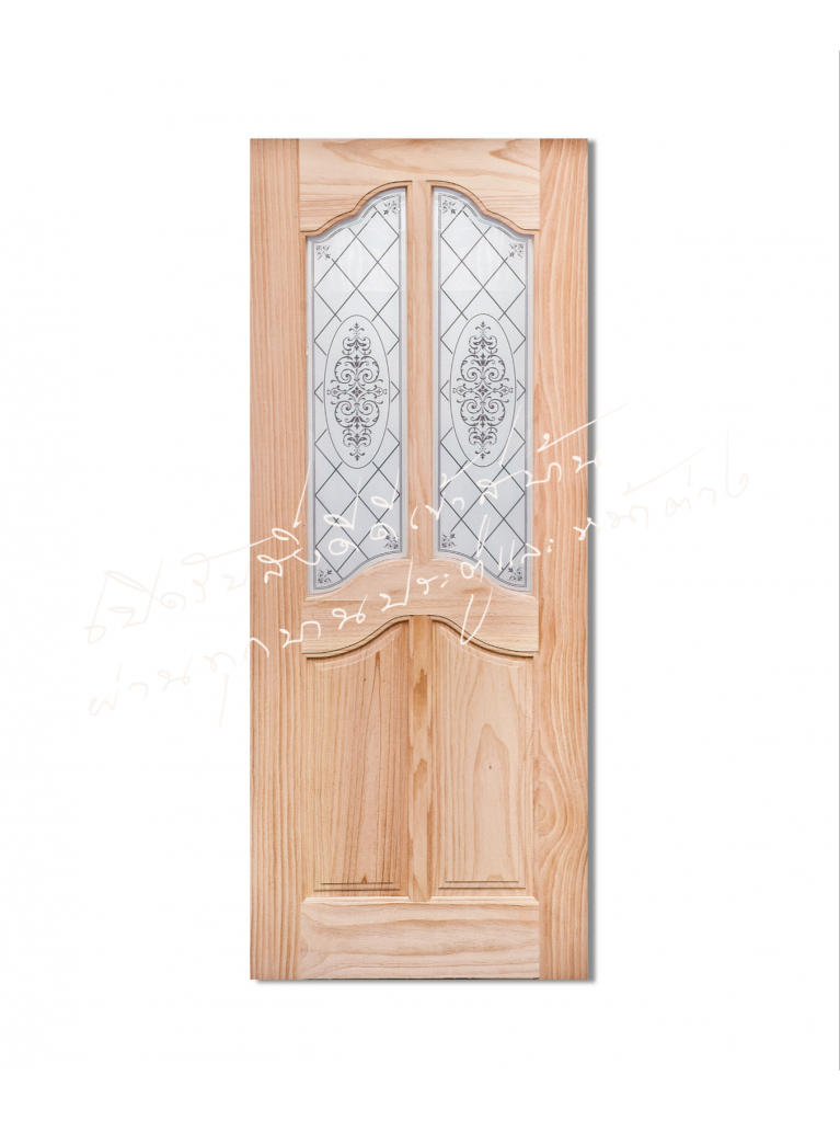 T/H45 ประตูไม้จริง ไม้สนนิวซีแลนด์