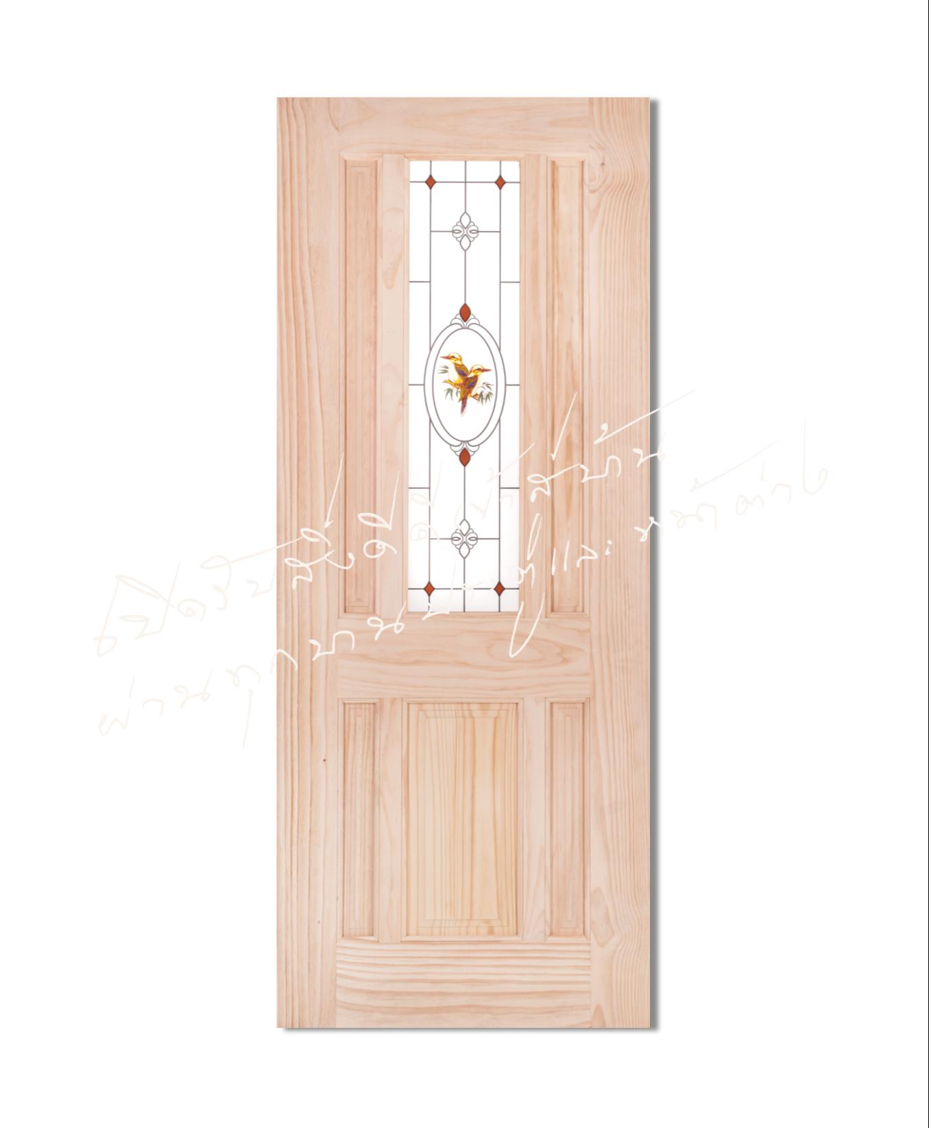 Burra ประตูไม้จริง ไม้สนนิวซีแลนด์