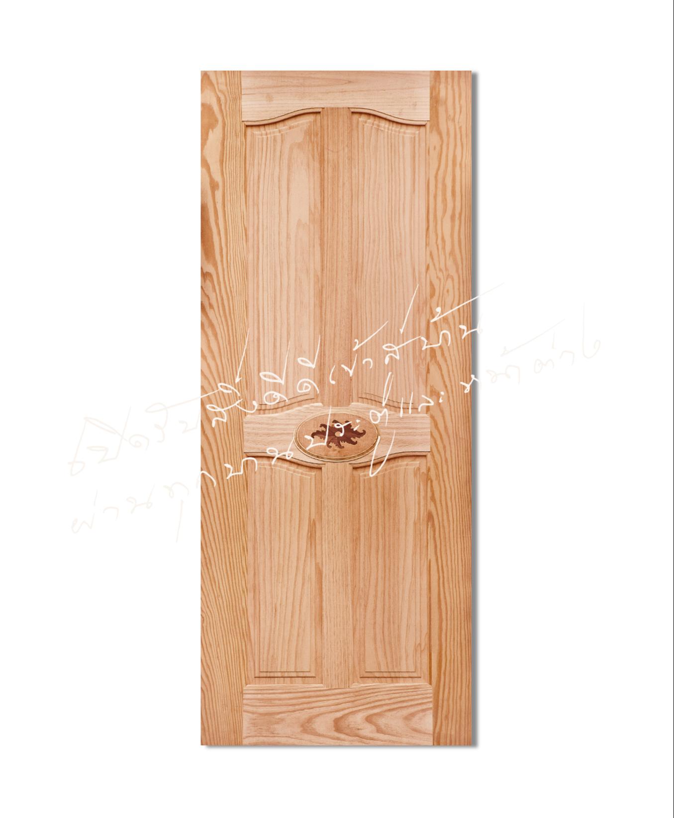 INLAY-18 ประตูไม้จริง ไม้สนนิวซีแลนด์