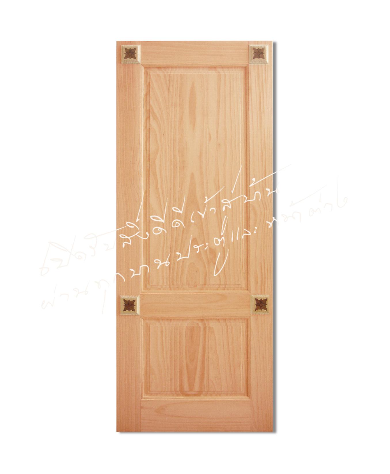 INLAY-19 ประตูไม้จริง ไม้สนนิวซีแลนด์