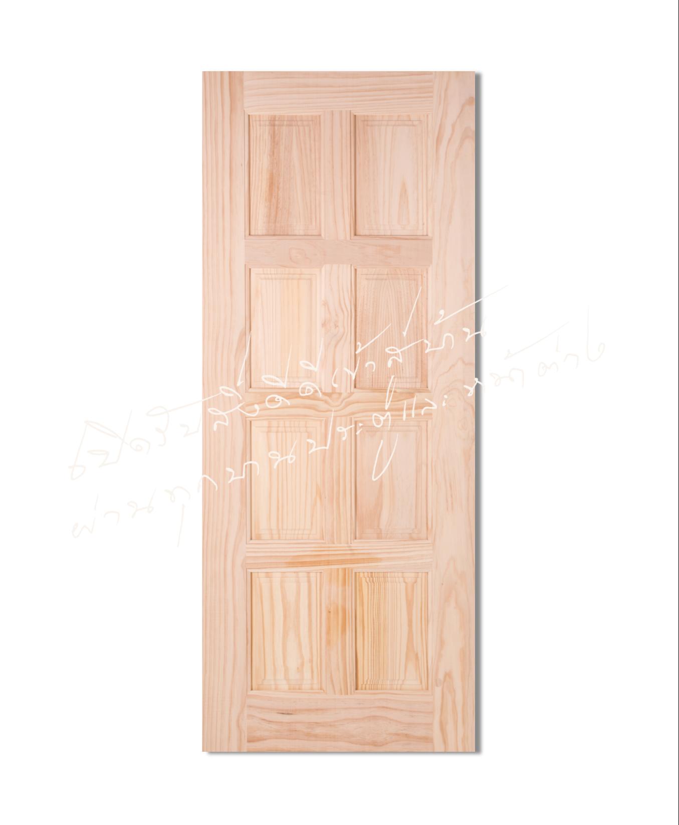 L116-8 ประตูไม้จริง ไม้สนนิวซีแลนด์