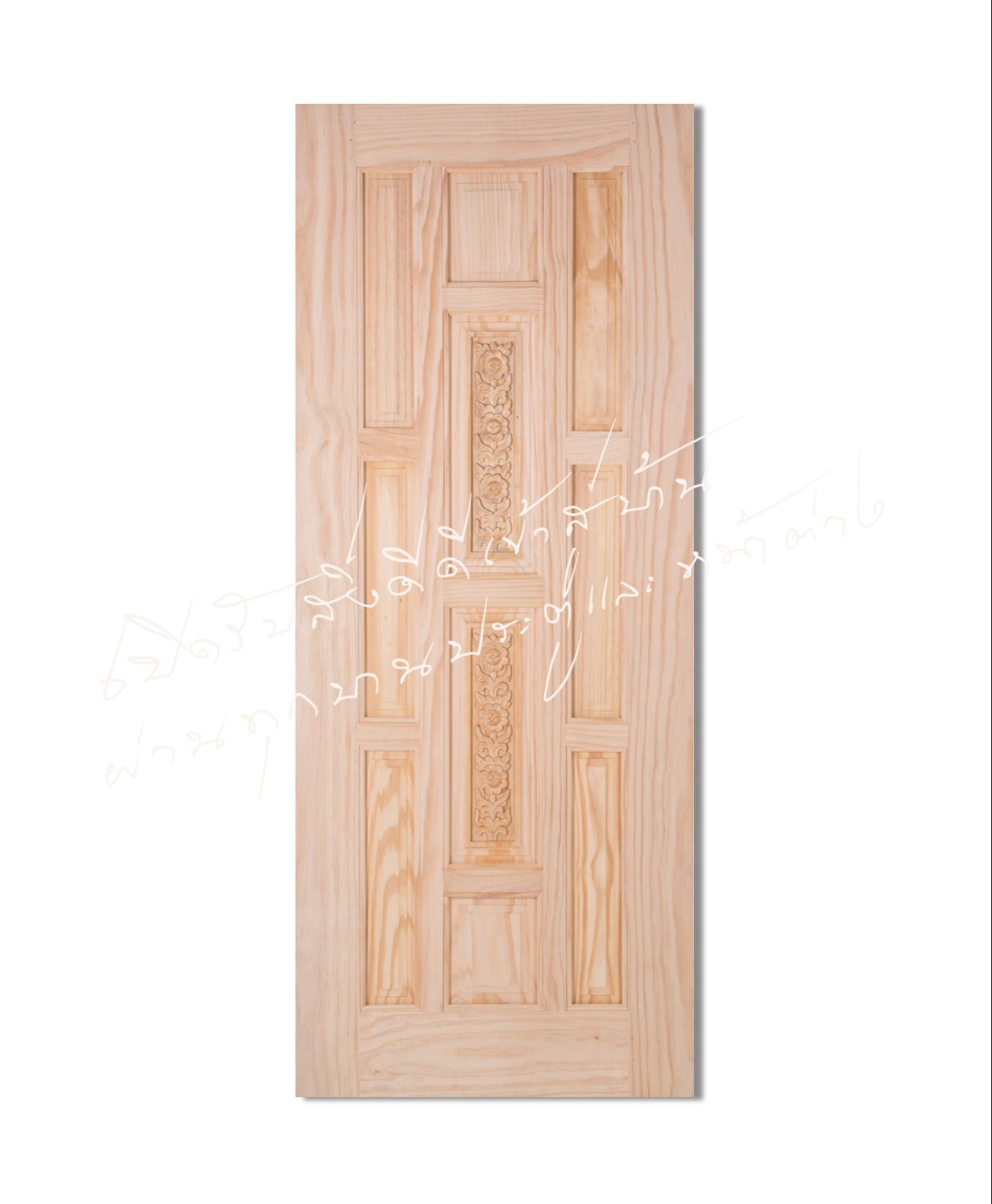 L120 ประตูไม้จริง ไม้สนนิวซีแลนด์