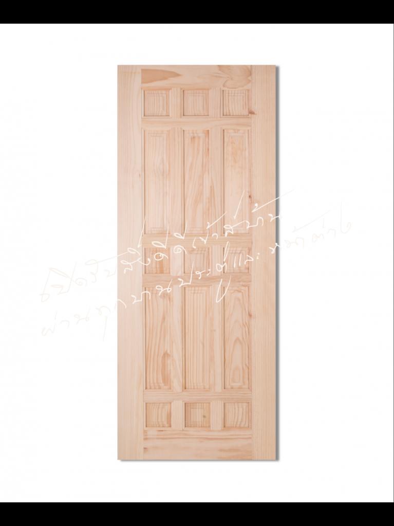 CE-119 ประตูไม้จริง ไม้สนนิวซีแลนด์