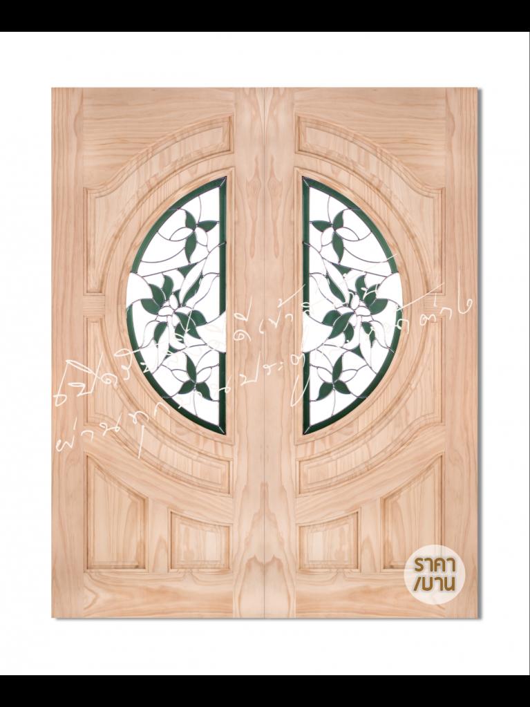 Glaring Green ประตูไม้จริง ไม้สนนิวซีแลนด์