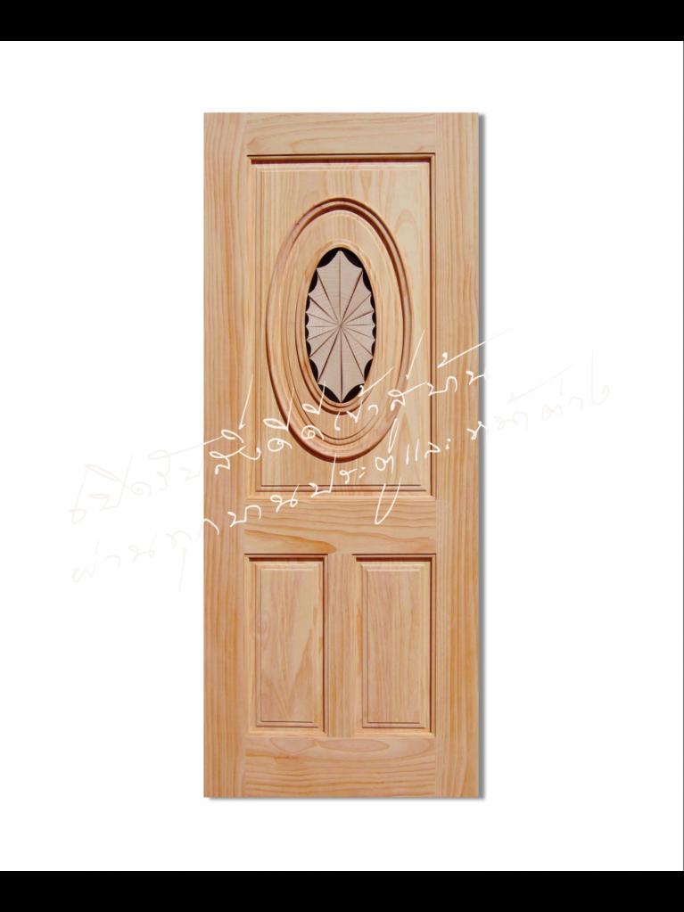 INLAY-01 ประตูไม้จริง ไม้สนนิวซีแลนด์