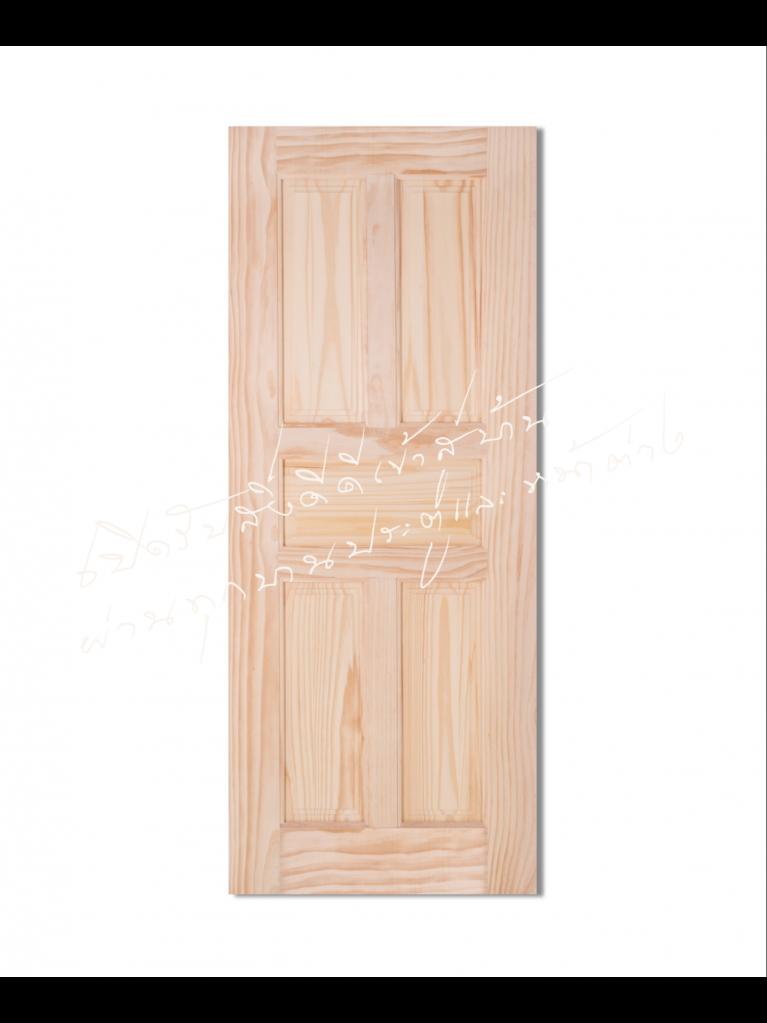 L115 ประตูไม้จริง ไม้สนนิวซีแลนด์