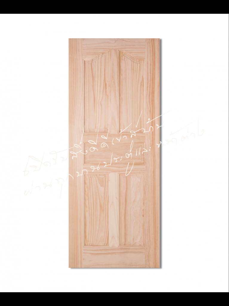 L118-5 ประตูไม้จริง ไม้สนนิวซีแลนด์