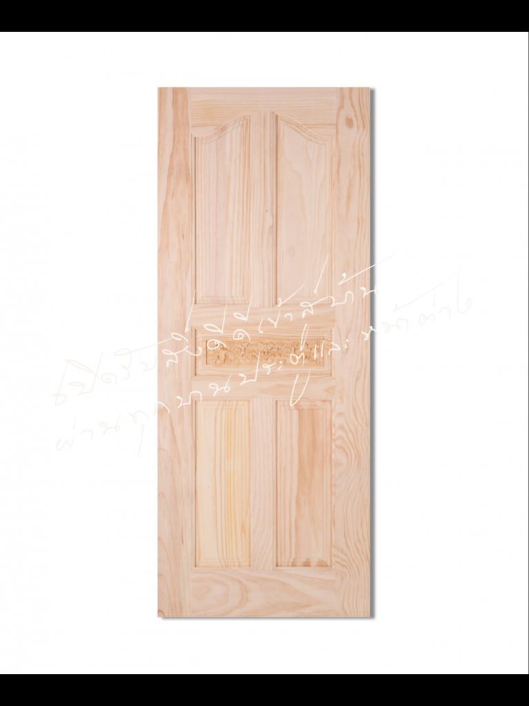 L118 ประตูไม้จริง ไม้สนนิวซีแลนด์