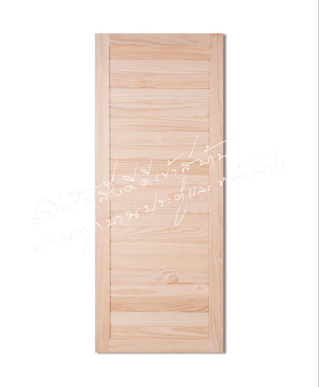SP.24 ประตูไม้จริง ไม้สนนิวซีแลนด์