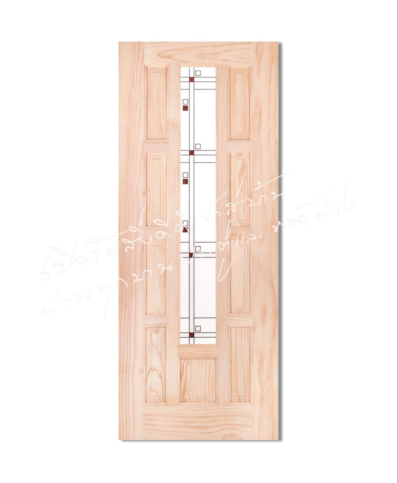 S.price01 ประตูไม้จริง ไม้สนนิวซีแลนด์